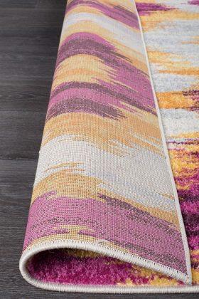 Dimensions Divinity Burst Aubergine Modern Rug