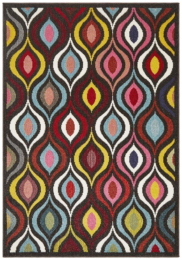 Gemini Modern 506 Multi Coloured Rug