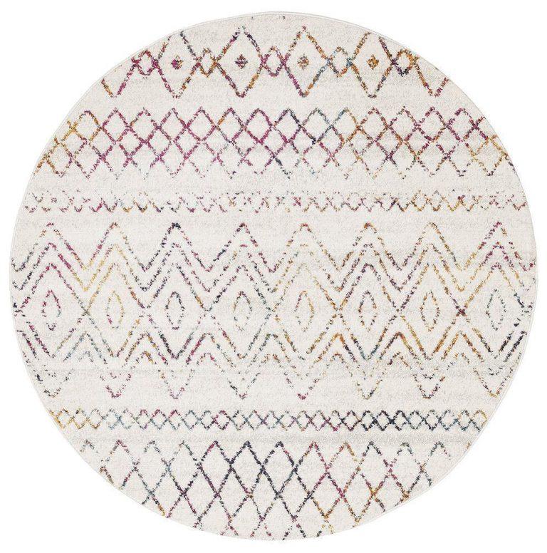 Oasis Nadia Multi Rustic Tribal Round Rug