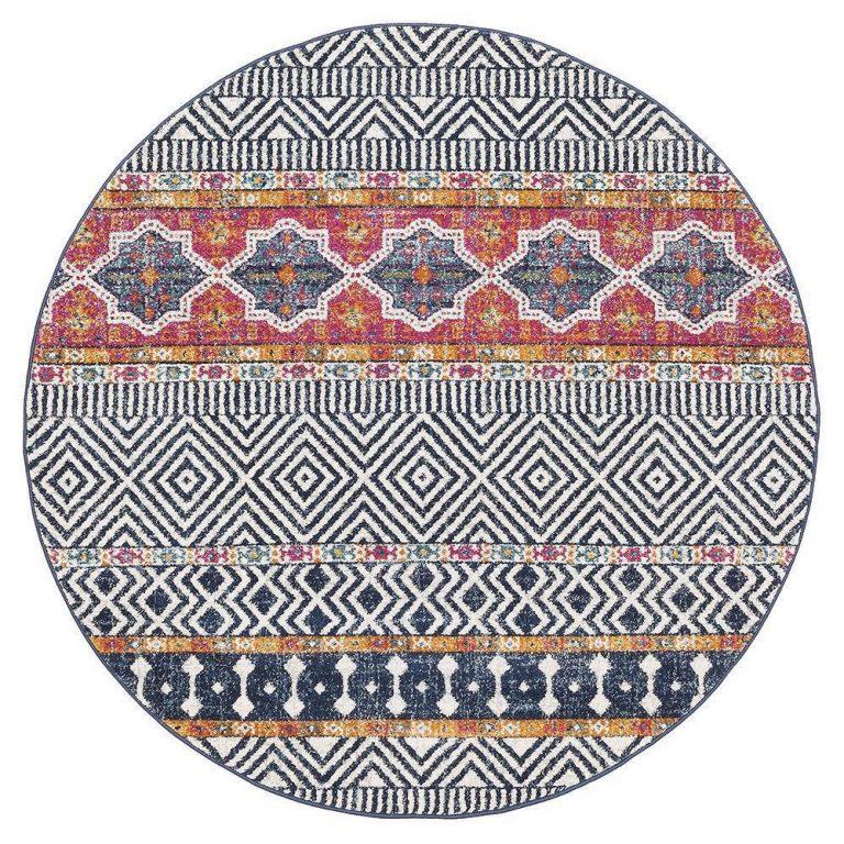 Oasis Sabrina Multi Tribal Round Rug