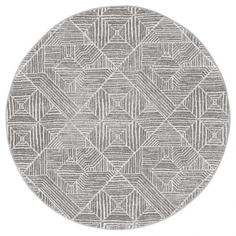 Oasis Kenza Contemporary Silver Round Rug
