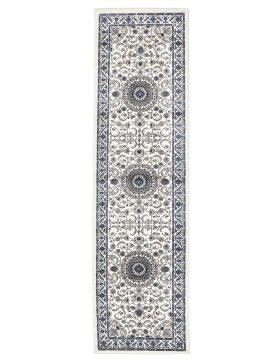 Sydney Collection Medallion Rug White With White Border
