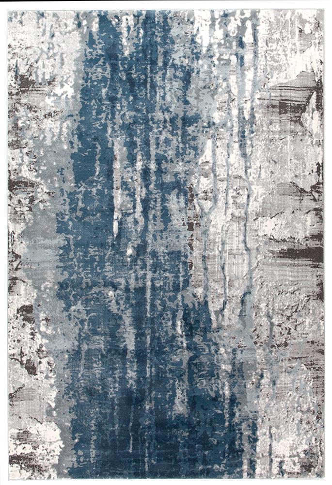 Kendra Roxana Distressed Timeless Rug Blue Grey White