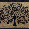 Tree Of Life Natural Black Coir Door Mat