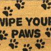 Wipe Your Paws Natural Black Coir Door Mat