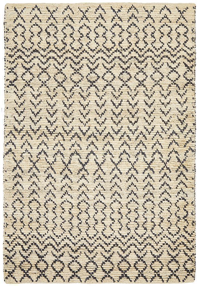 Kenya Elki Hand Woven Tribal Jute Rug