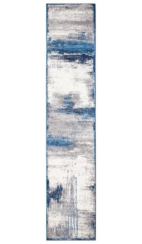 Chelsea Anita Abstract Runner Rug Blue Cream