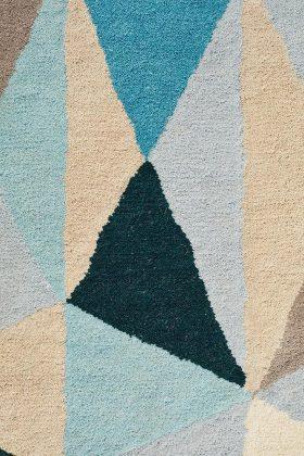 Matrix Pure Wool Turquoise Rug