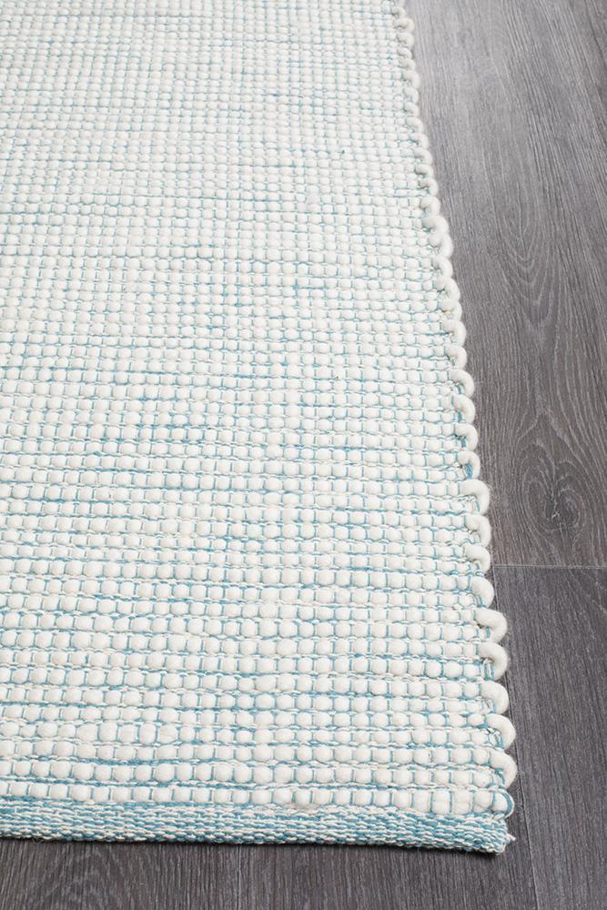 Loft Stunning Wool Turquoise Rug