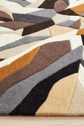 Matrix Pure Wool Fossil Rug