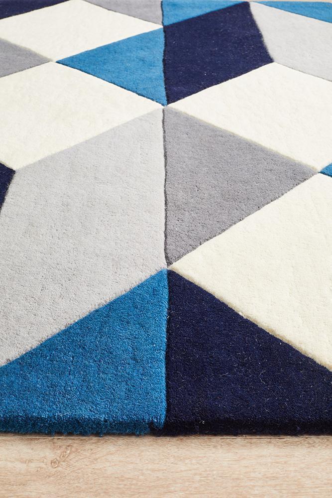 Matrix Pure Wool Steel Rug