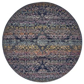 Museum Nelly Multi Coloured Round Rug