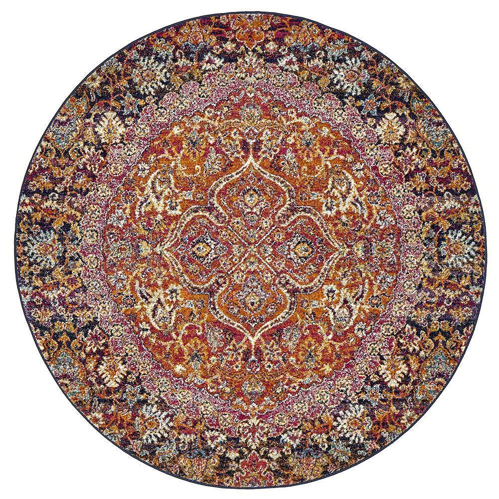 Museum Preston Multi Coloured Round Rug