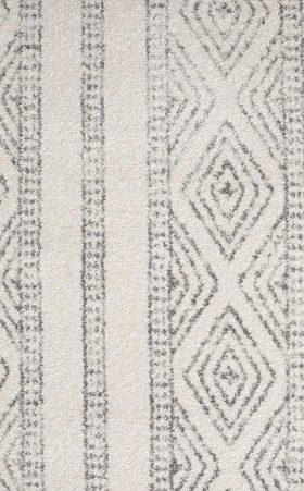 Oasis Salma White And Grey Tribal Rug