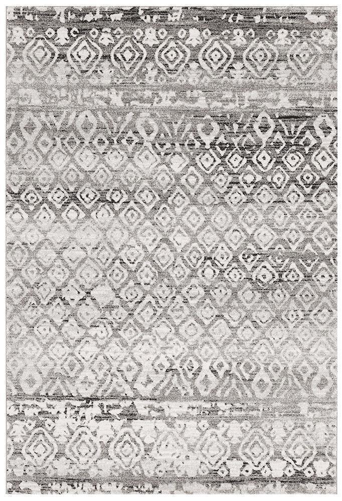 Oasis Zakira Dark Grey Tribal Rug