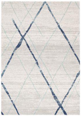 Oasis Noah White Blue Contemporary Rug