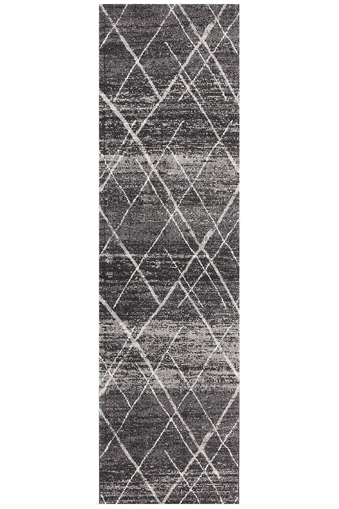 Oasis Noah Charcoal Contemporary Rug