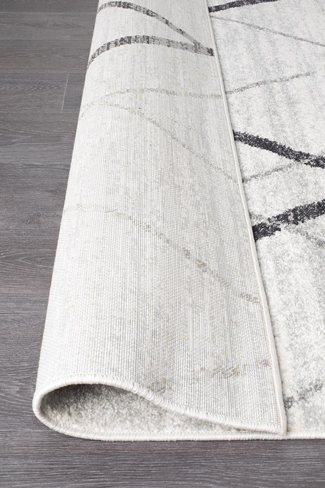 Oasis Noah White Grey Contemporary Rug