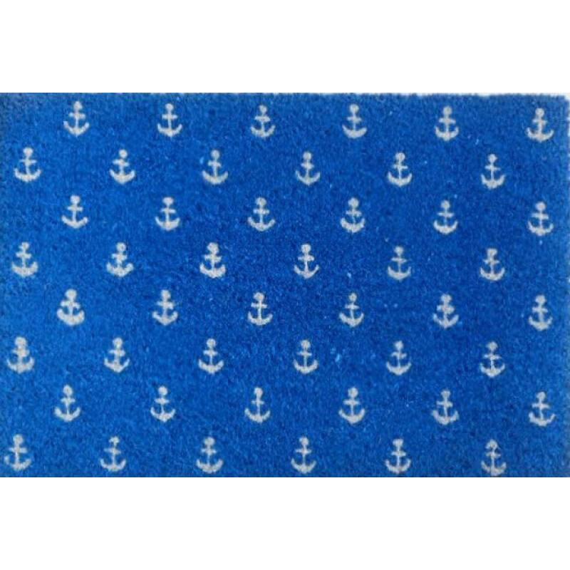 Blue Anchor Coir Door Mat