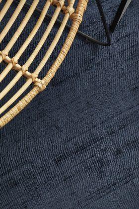 Denim Blue Hand Loomed Coastal Textured Rug