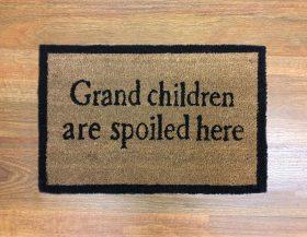 Grand Children Natural Black Coir Door Mat