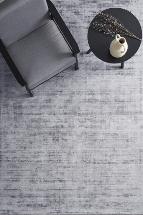 Grey Neutral Hand Loomed Contemporary Rug