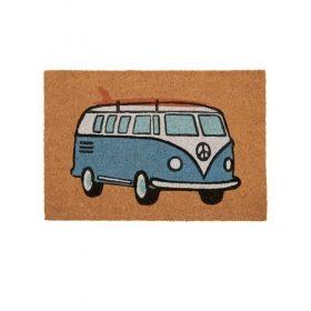 Beach Blue Kombi Van Coir Door Mat