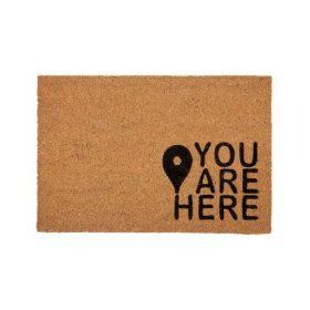 You Are Here Quote Coir Door Mat