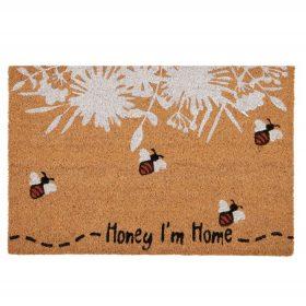 Honey Bee Home Coir Door Mat